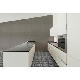 Emser Tile - Design 9 in. x 9 in. Glazed Porcelain Tile - Mural Installed