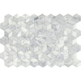 Copy of Emser Tile - Link Marble Groutless Mosaic - White Cube