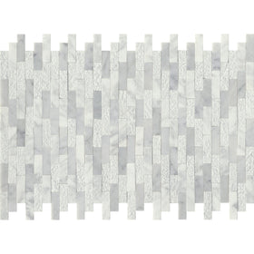 Emser Tile - Link Marble Groutless Mosaic - White Linear
