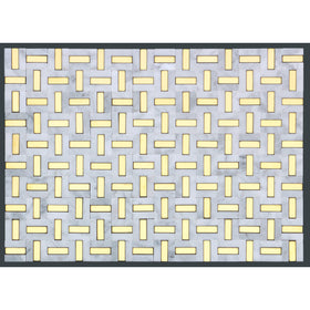 Emser Tile - Link Marble Groutless Mosaic - White and Gold