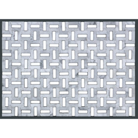 Emser Tile - Link Marble Groutless Mosaic - White and Silver