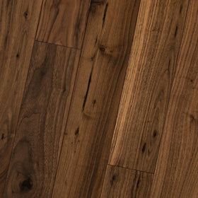 "HomerWood - Premium Solid Traditional Character - 5"" Black Walnut Natural"