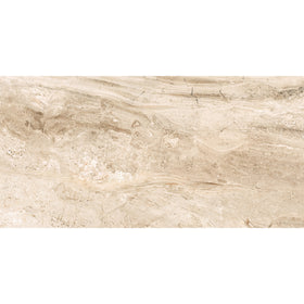 Interceramic - Amalfi Stone - Crema Vasari 12 in. x 24 in. Ceramic Tile