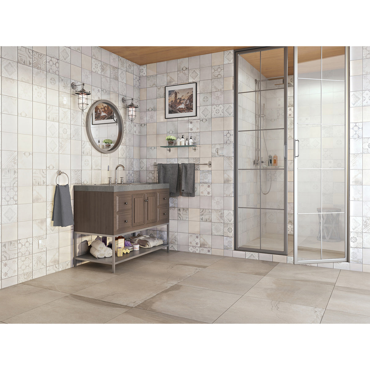 Interceramic - Emma Series - Cementine Mix Bathroom