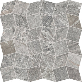 Interceramic - Quartzite Silver Polygon Ceramic Mosaic