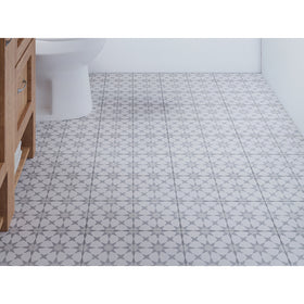 Interceramic - Union Square 8 in. x 8 in. Ceramic Tile - Fisher Bathroom