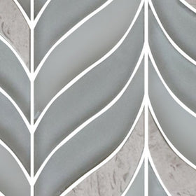 Lungarno Ceramics - Natural Elements - Dove Leaves Mosaic