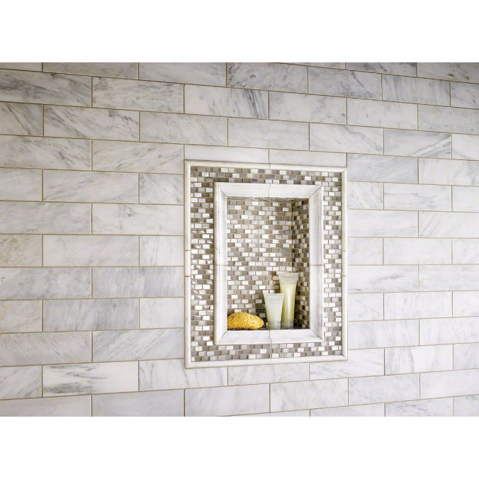 MSI - Arabescato Carrara 1 in. x 2 in. x 12 in. Marble Cornice Molding - Honed - Lifestyle