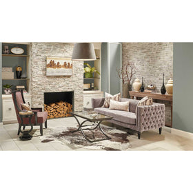 MSI - Brickstone 2 in. x 10 in. Porcelain Tile - Taupe Room Scene