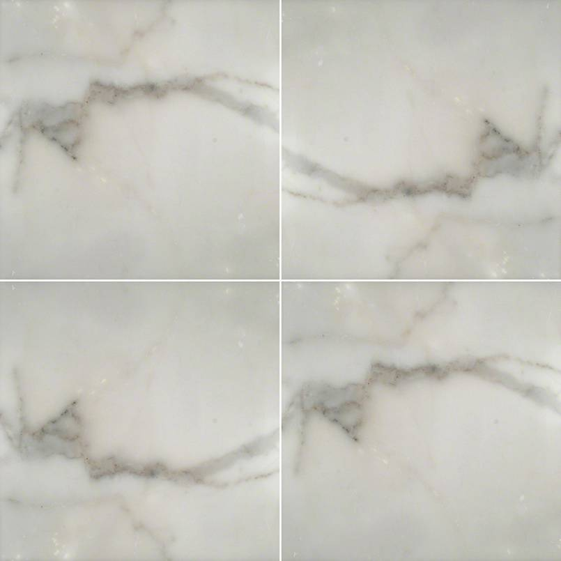 MSI - Calacatta Gold 18 in. x 18 in. Marble Tile - Honed