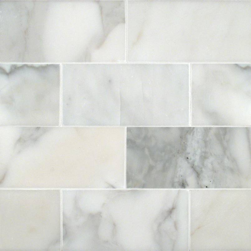 MSI - Calacatta Gold 3 in. x 6 in. Marble Subway Tile - Polished