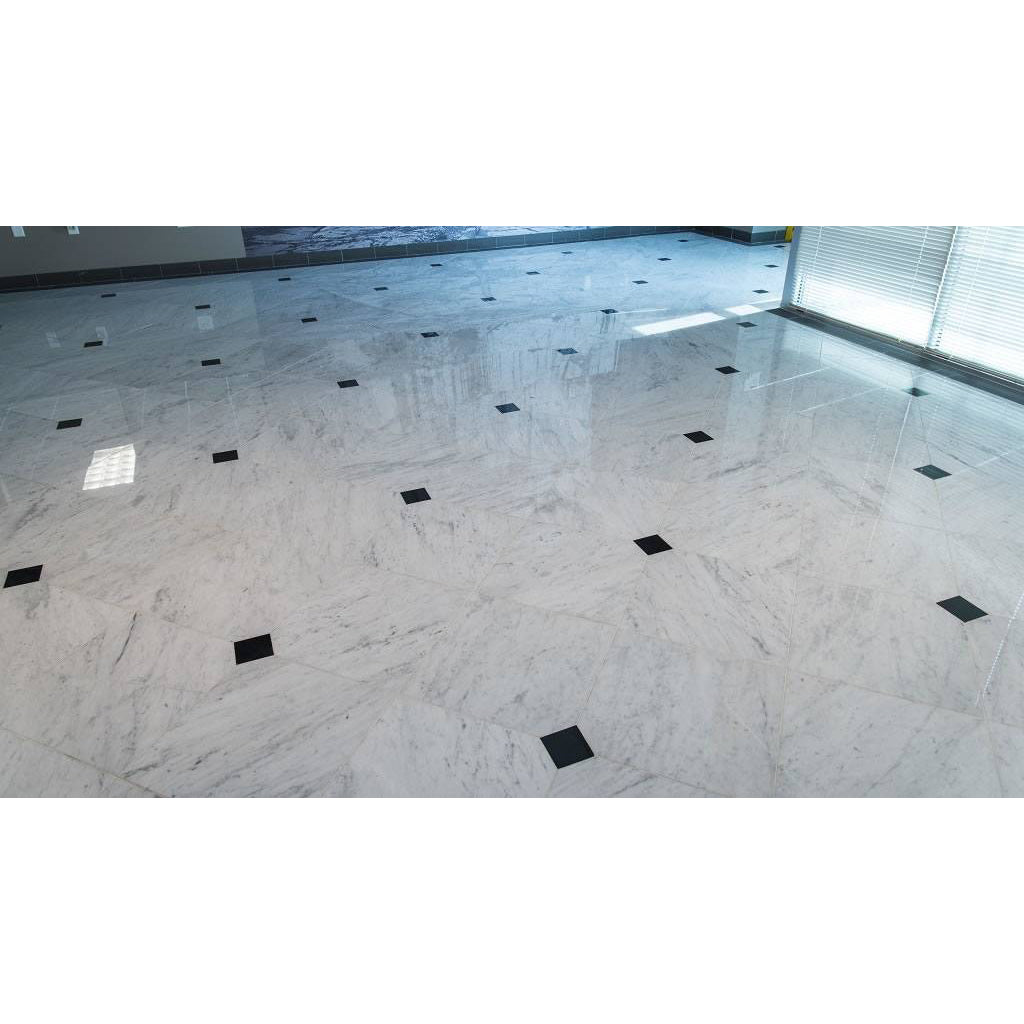 MSI - Carrara White 18 in. x 18 in. Marble Tile - Honed Room Scene