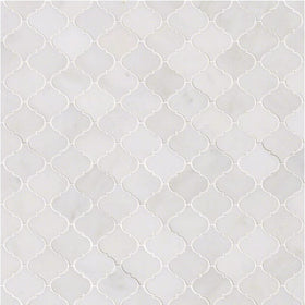 MSI - Greecian White Arabesque Pattern Mosaic - Polished