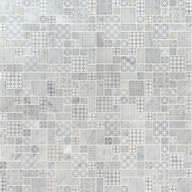 MSI - Tetris Blanco 10mm Honed Marble Mosaic Tile