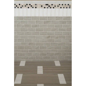 MSI Stone SMOT-PT-DG36 Highland Park Dove Tile with Glossy Finish 3 x 6 Gray