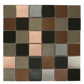 Maniscalco - Murray River Metals 2 in. x 2 in. Mosaic - Blended Brushed