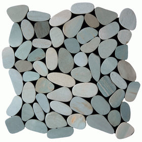 Maniscalco - Botany Bay Pebbles - Sliced Sea Green