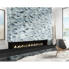 Maniscalco - Gosford Glass and Stone Mosaics - 2 in. x 6 in. - Whirl Blend