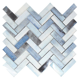 Maniscalco - Gosford Glass and Stone Mosaics - Herringbone - Whirl Blend