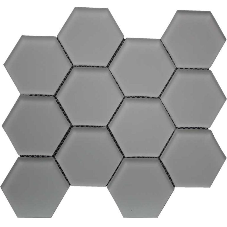 "Maniscalco - Simpson Desert Glass - Hexagon 3"" x 3"" - Urban Mist Matte"