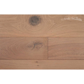 Naturally Aged Flooring - Wire Brushed Series, Oak Engineered Hardwood - White Mist