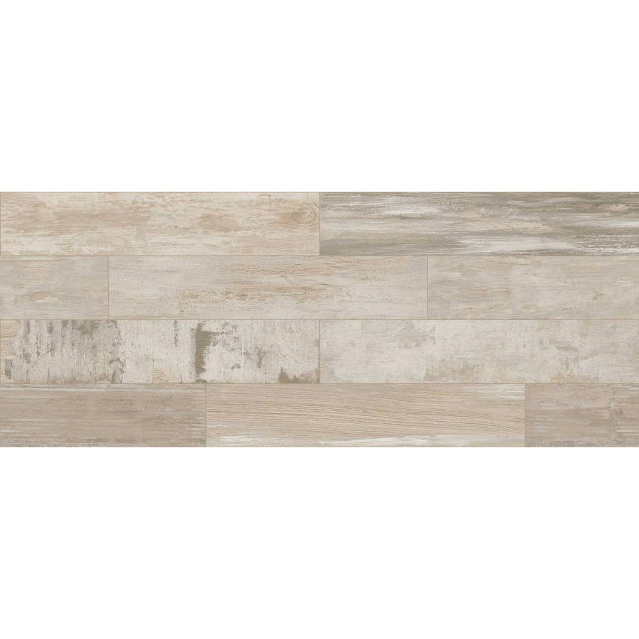 Landmark Ceramics Re-True 8 in. x 40 in. Porcelain Floor Tile - White