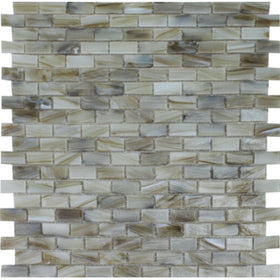 Aquatica by Tesora - Aurora Series 1/2 in. x 1 in. Glass Mosaic - Jade