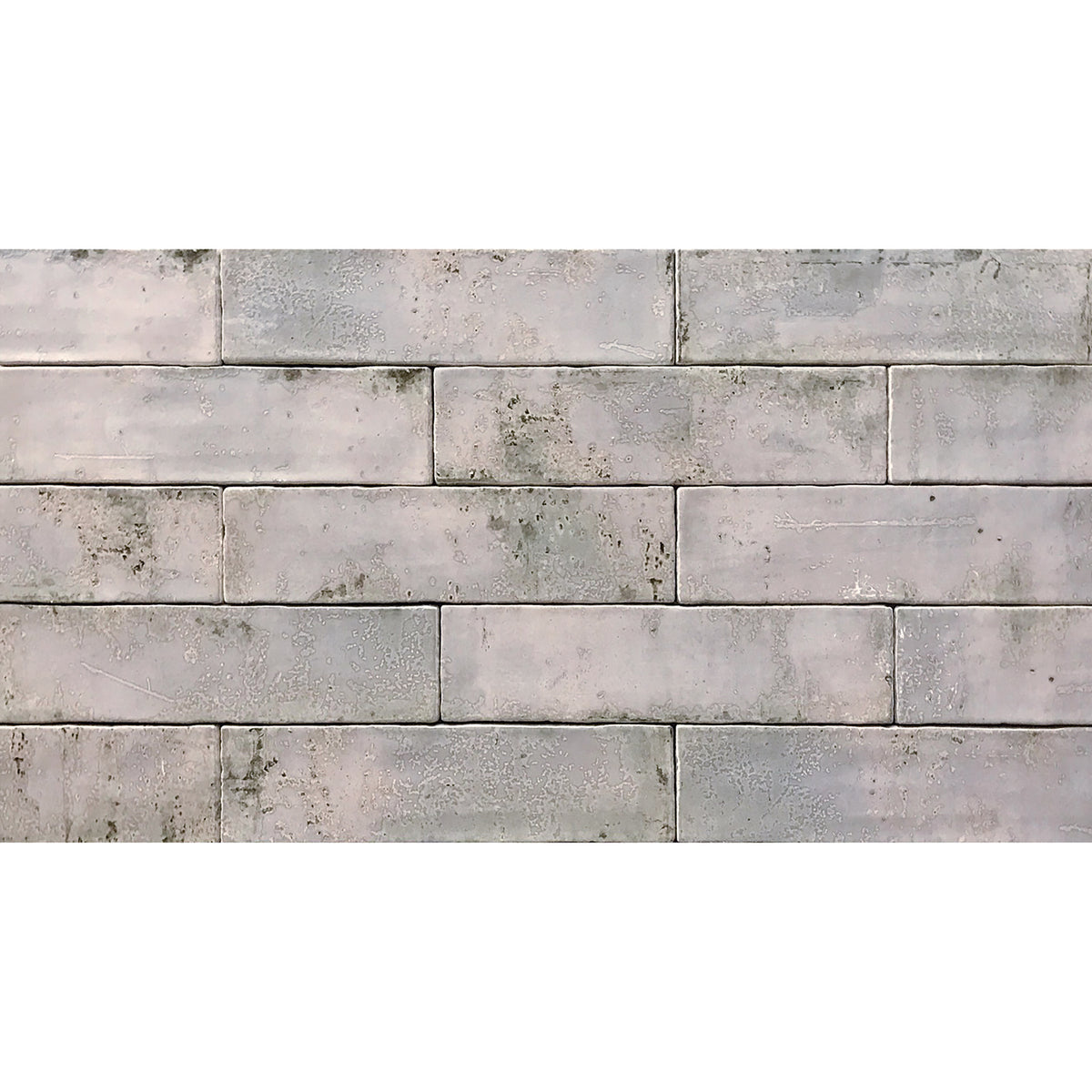 Tesoro Decorative Collection - Grunge Ceramic 3 in. x. 12 in. Wall Tile - Grey