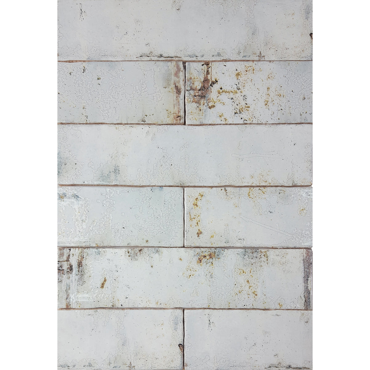 Tesoro Decorative Collection - Grunge Ceramic 3 in. x. 12 in. Wall Tile - Iron
