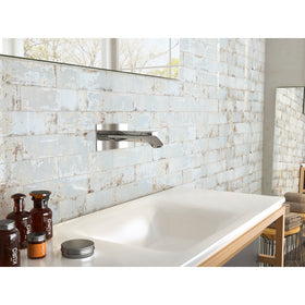 Tesoro Decorative Collection - Grunge Ceramic 3 in. x. 12 in. Wall Tile - Oxid