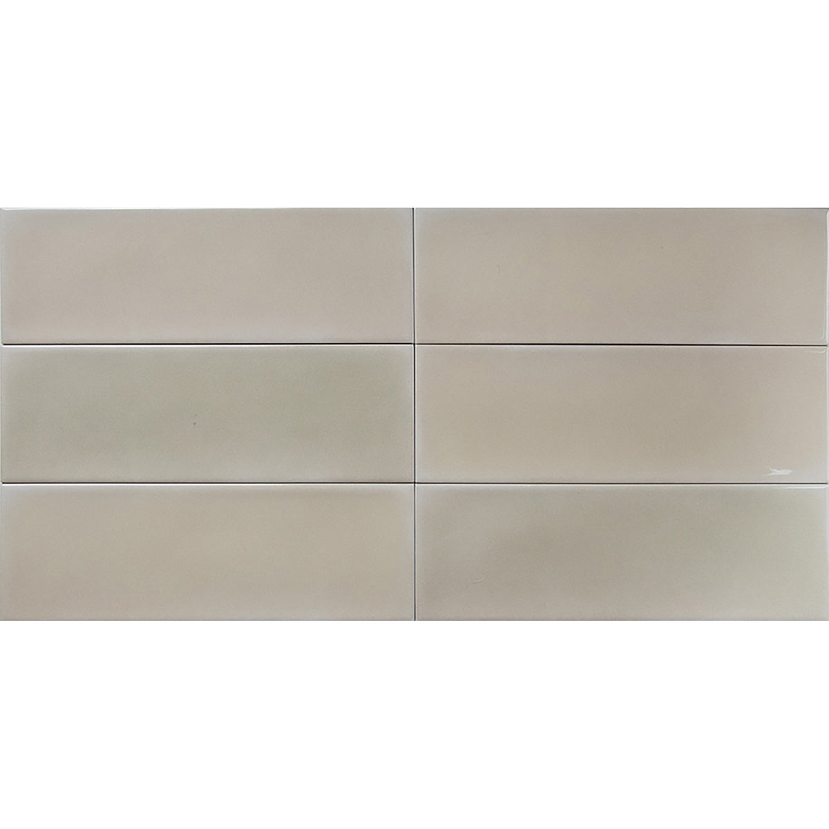 Tesoro - Hyde Park 4 in. x 12 in. Glossy Wall Tile - Amber Installed