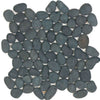 See Tesoro Decorative Collection - Ocean Stone Mosaics - Black Pebble