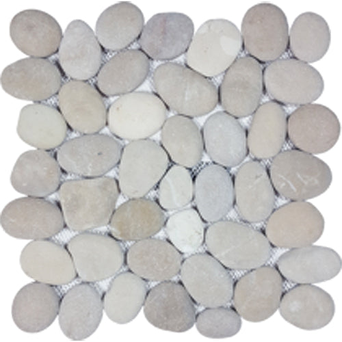 Tesoro Decorative Collection - Ocean Stone Mosaics - Classic Tan Pebble