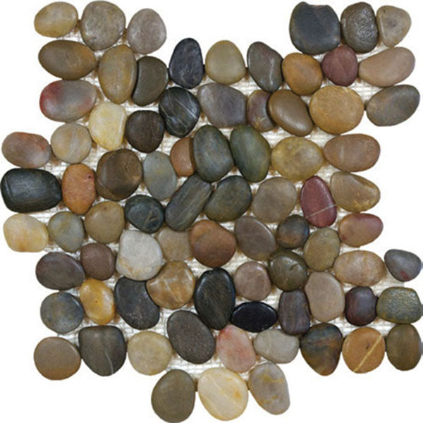 Tesoro Decorative Collection - Ocean Stone Mosaics - Tiger Eye Pebble