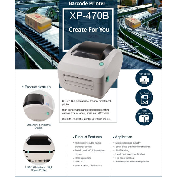 Xprinter límmiðaprentari - Direct Thermal