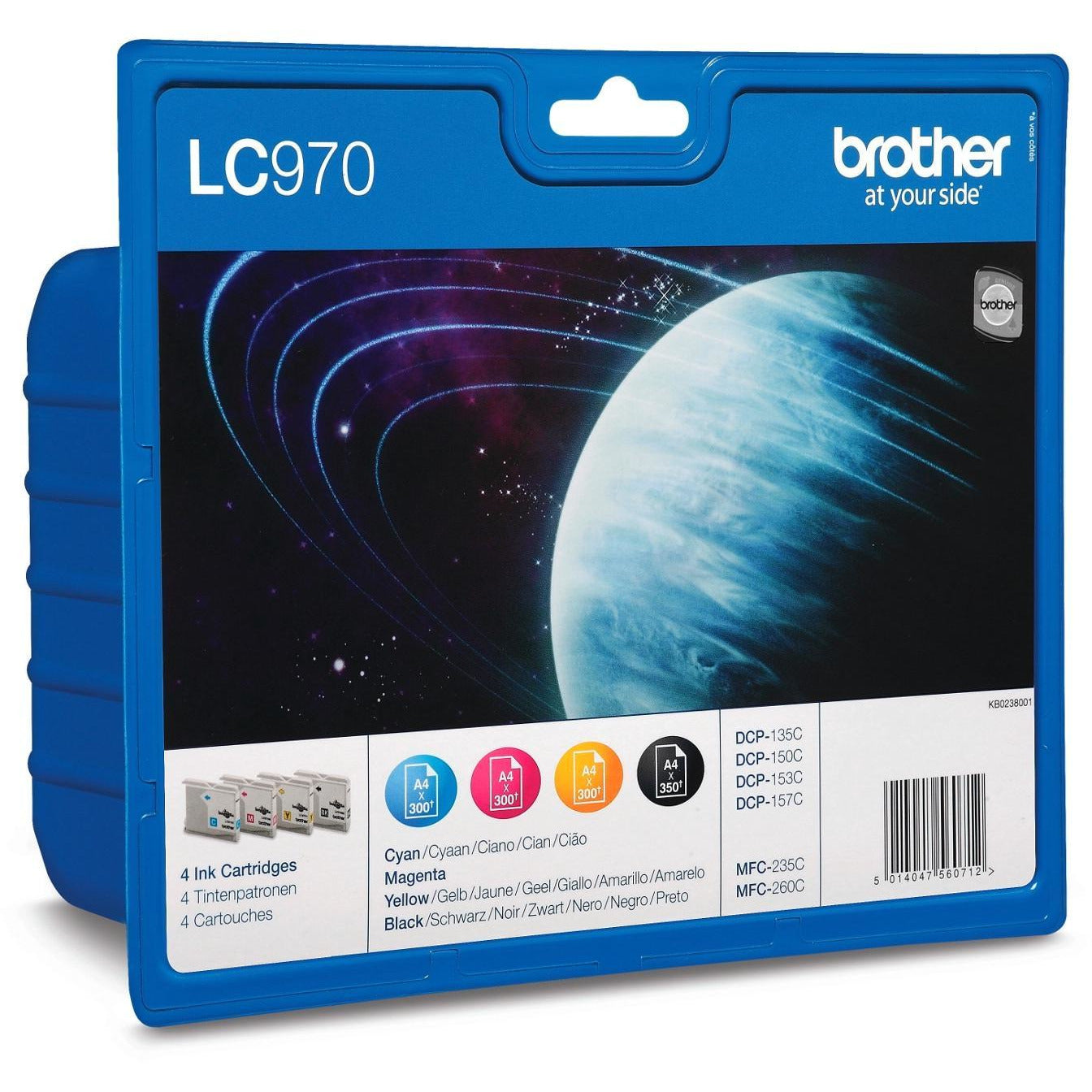 Brother LC970 Bk/C/M/Y Value Pack