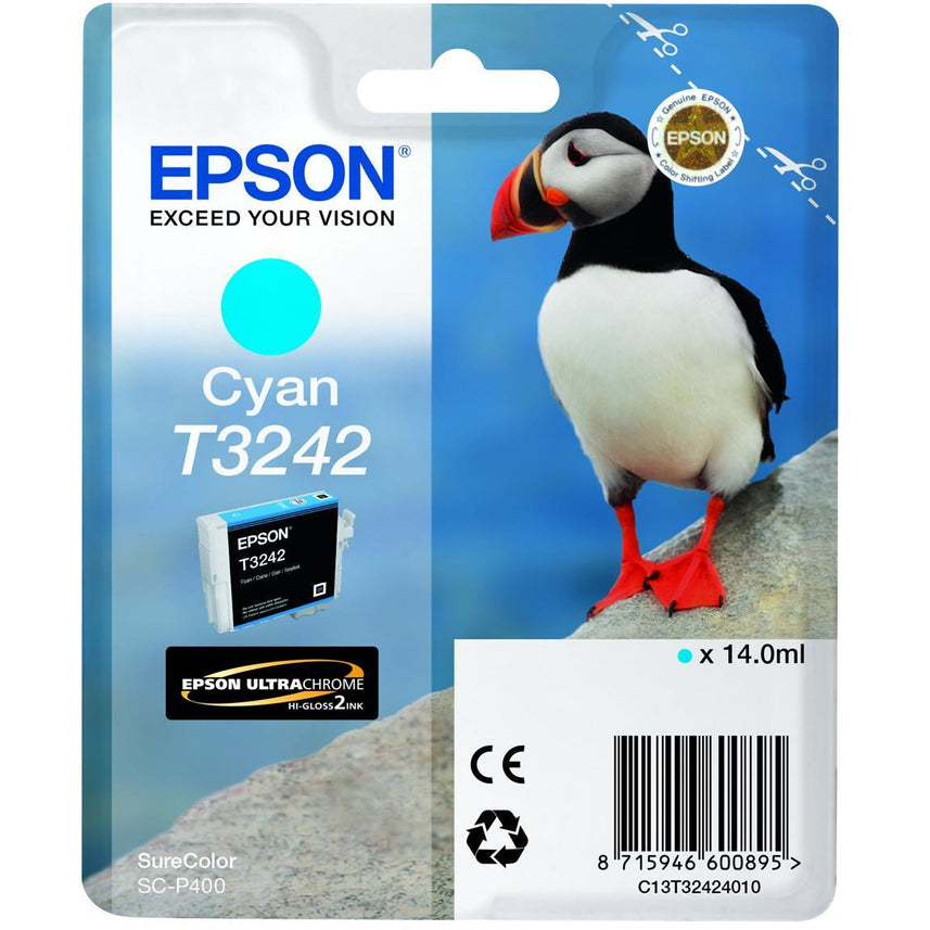 Epson Puffin T3242 14ml Ultrachrome Hi-Gloss blátt