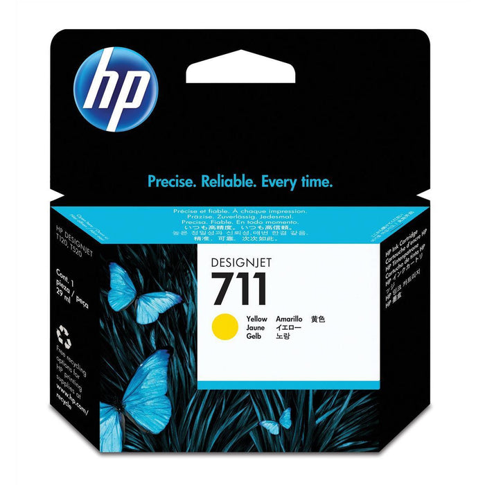 HP 711 (Volume: 29ml) gult blekhylki