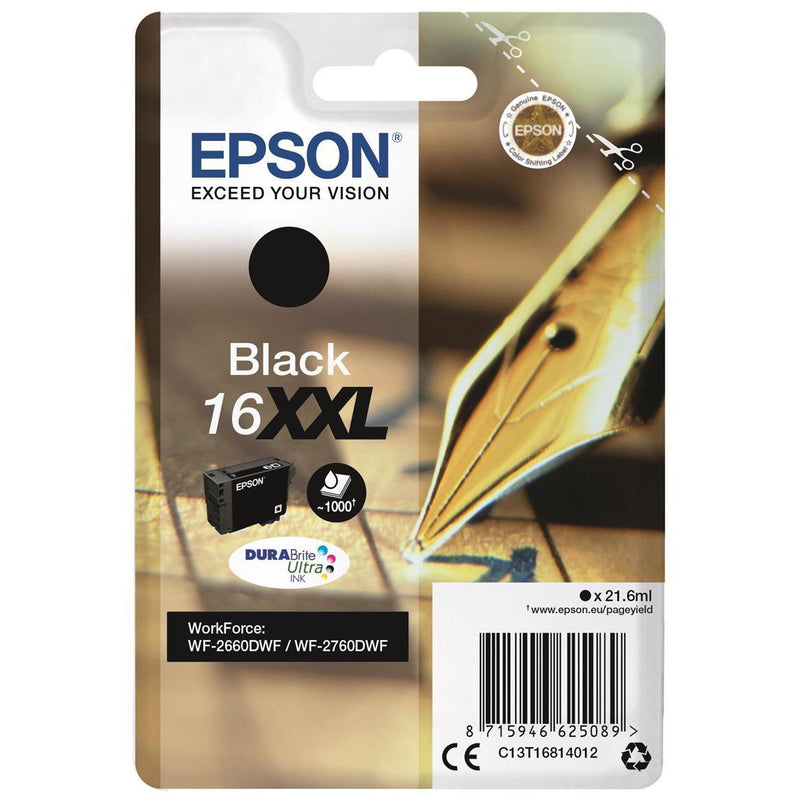 Epson WF2660DWF svart Inc Cartridge 21.6ml