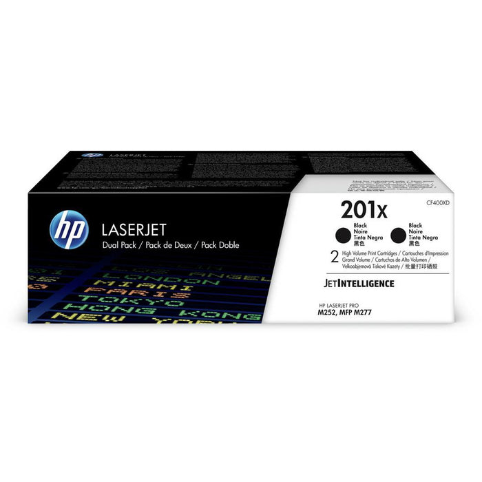 HP CF400XD 201X 2 Pack XL svart Cartridge