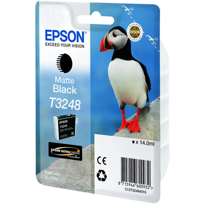 Epson Puffin T3248 14ml Ultrachrome Hi-Gloss Matte svart