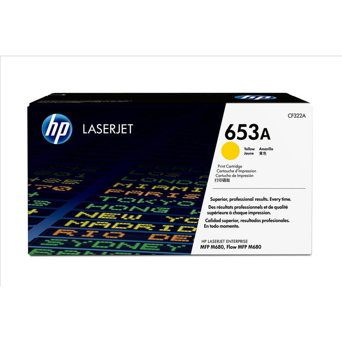 HP CF322A 653A Laser Cartridge 16.5K gult