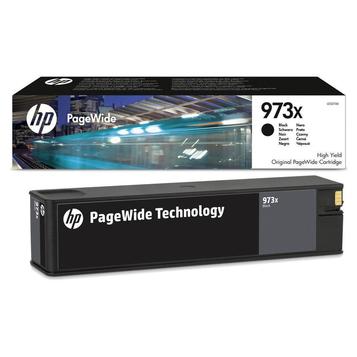 HP 973X (Prentar: 10,000 síður) XL Original PageWide Cartridge (svart)