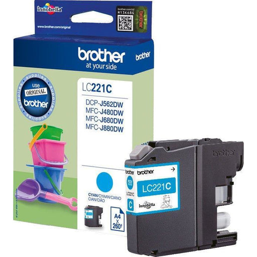 Brother LC221C blátt Ink 4ml