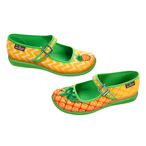 Chocolaticas® Pineapple Women's Mary Jane Flat