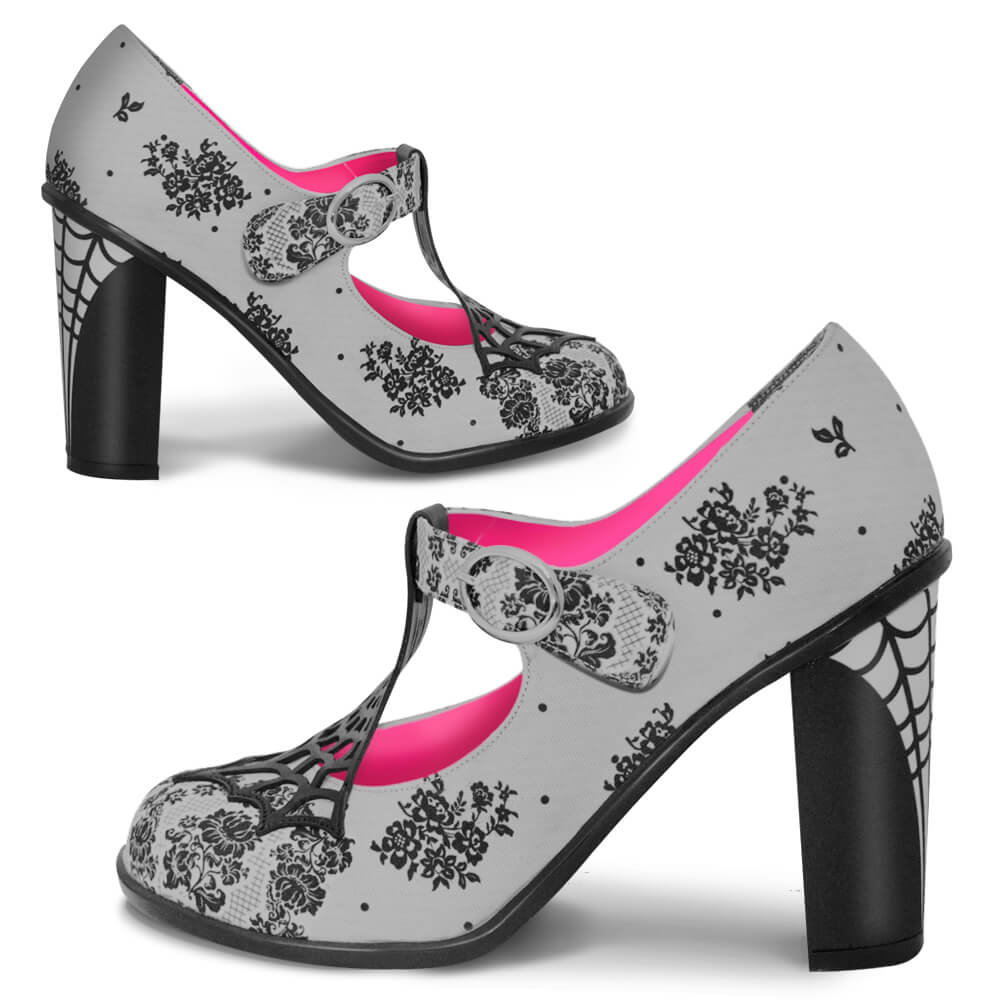 Chocolaticas® High Heels Spider Web Women's Mary Jane Pump