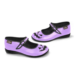 Chocolaticas® Halloween Purple Women's Mary Jane Flat