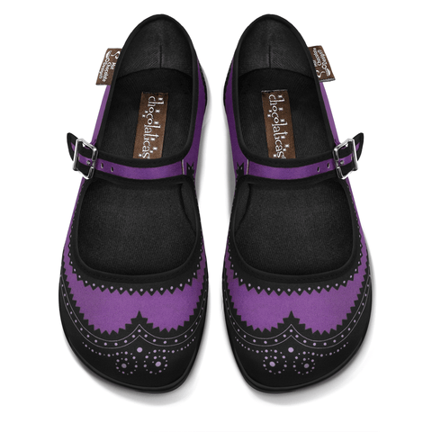 Chocolaticas® Havana Violet Women's Mary Jane Flat