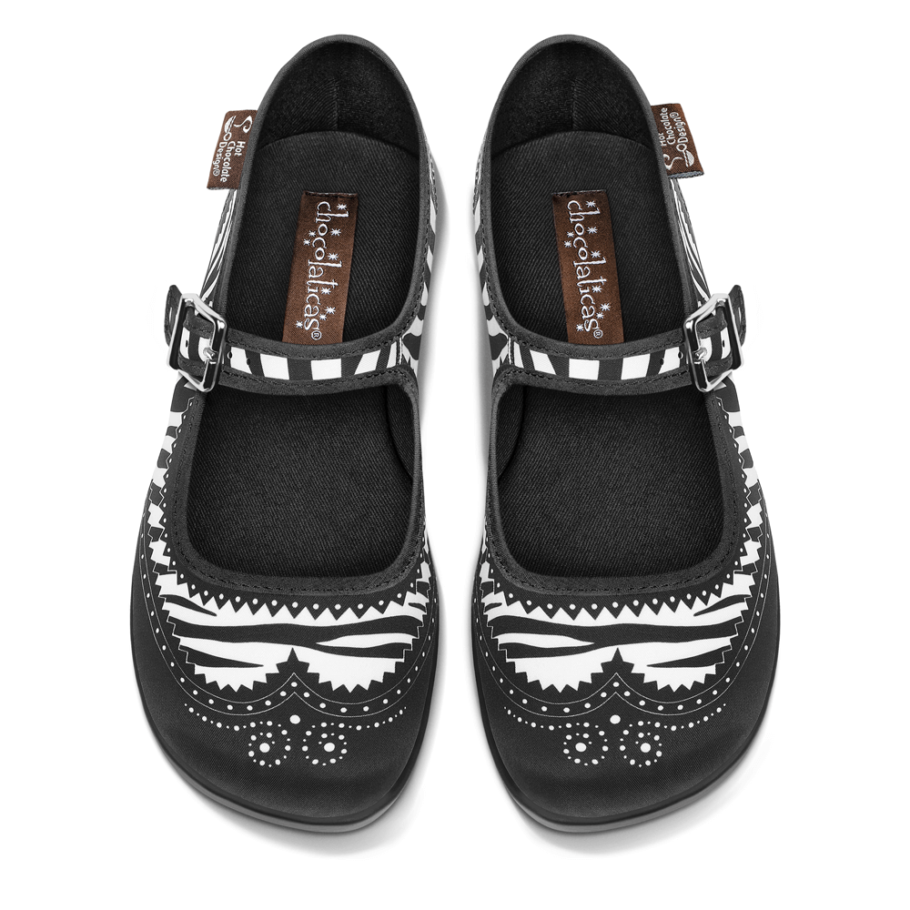 Chocolaticas® Habana Zebra Women's Mary Jane Flat