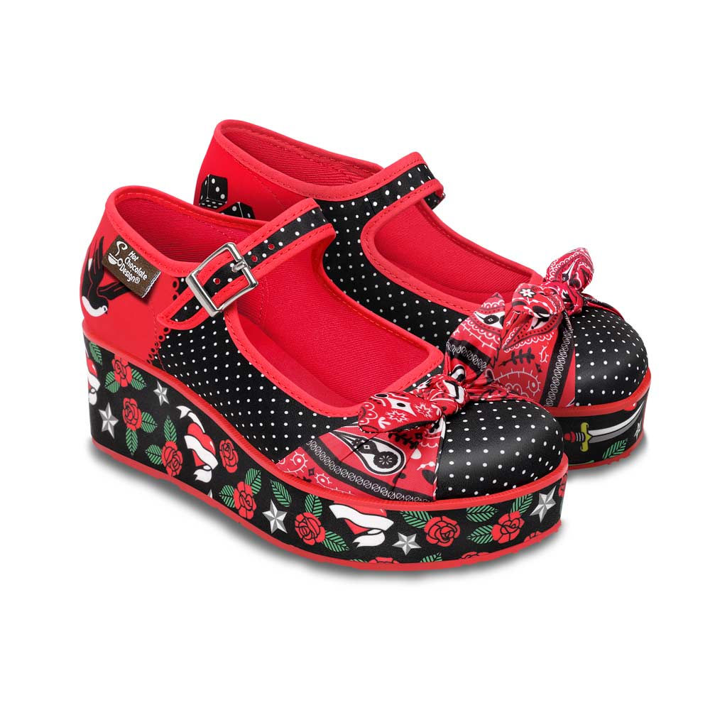 Chocolaticas® Rockabilly Women's Mary Jane Platform
